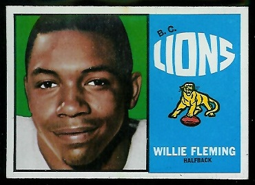 Willie Fleming 1964 Topps CFL football card