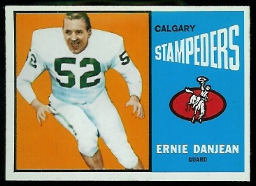 Ernie Danjean 1964 Topps CFL football card