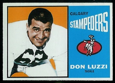 Don Luzzi 1964 Topps CFL football card