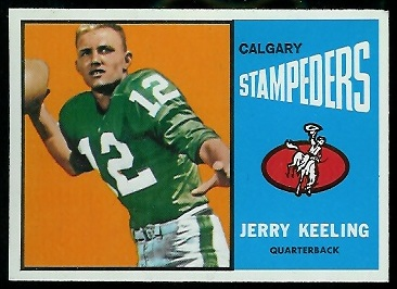 Jerry Keeling 1964 Topps CFL football card