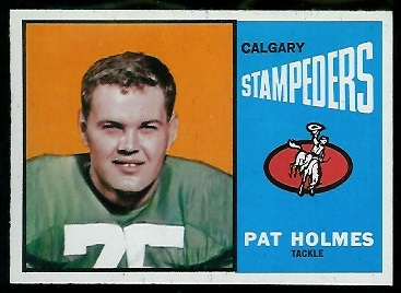 Pat Holmes 1964 Topps CFL football card