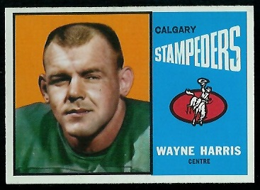 Wayne Harris 1964 Topps CFL football card