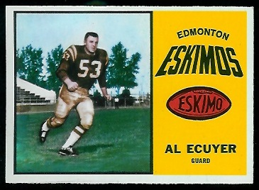 Al Ecuyer 1964 Topps CFL football card