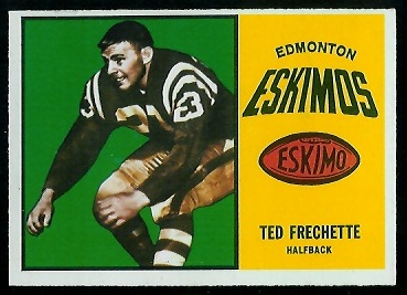 Ted Frechette 1964 Topps CFL football card