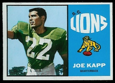 Joe Kapp 1964 Topps CFL football card