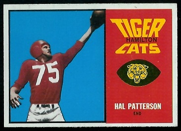 Hal Patterson 1964 Topps CFL football card