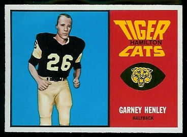 Garney Henley 1964 Topps CFL football card