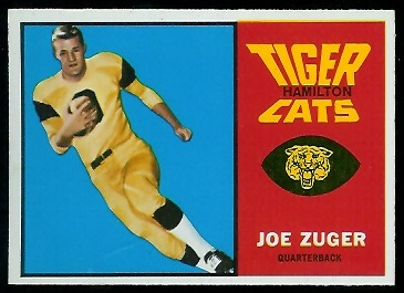 Joe Zuger 1964 Topps CFL football card