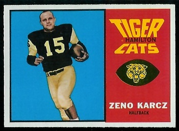 Zeno Karcz 1964 Topps CFL football card