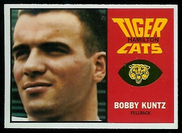 Bobby Kuntz 1964 Topps CFL football card