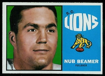 Nub Beamer 1964 Topps CFL football card