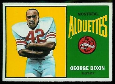 George Dixon 1964 Topps CFL football card