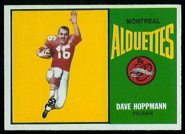 Dave Hoppmann 1964 Topps CFL football card