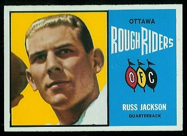 Russ Jackson 1964 Topps CFL football card