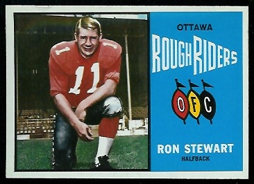 Ron Stewart 1964 Topps CFL football card