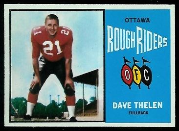 Dave Thelen 1964 Topps CFL football card