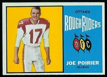 Joe Poirier 1964 Topps CFL football card