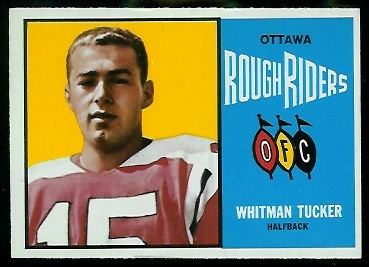 Whit Tucker 1964 Topps CFL football card