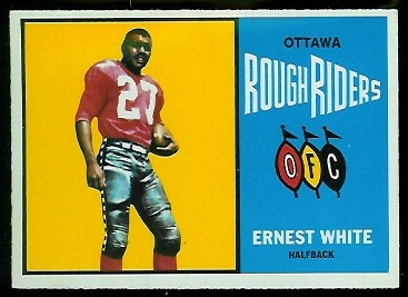 Ernie White 1964 Topps CFL football card