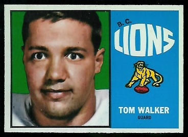 Tom Walker 1964 Topps CFL football card
