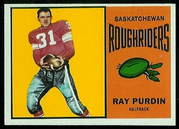 Ray Purdin 1964 Topps CFL football card