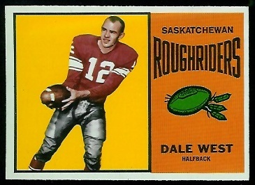 Dale West 1964 Topps CFL football card
