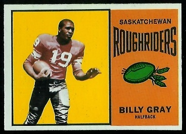 Billy Gray 1964 Topps CFL football card