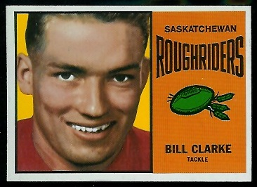 Bill Clarke 1964 Topps CFL football card
