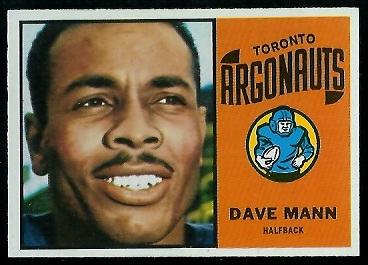 Dave Mann 1964 Topps CFL football card