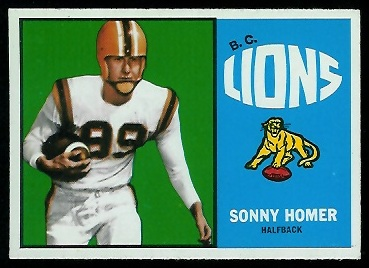 Sonny Homer 1964 Topps CFL football card