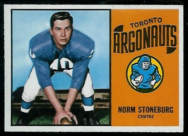 Norm Stoneburgh 1964 Topps CFL football card