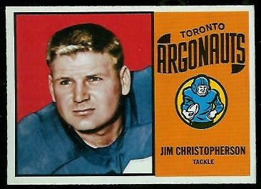 Jim Christopherson 1964 Topps CFL football card