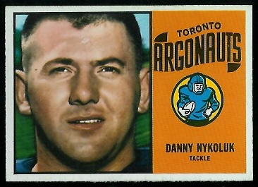 Danny Nykoluk 1964 Topps CFL football card