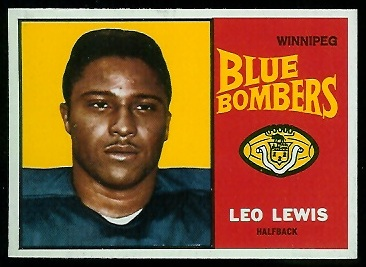 Leo Lewis 1964 Topps CFL football card