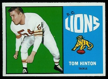 Tom Hinton 1964 Topps CFL football card
