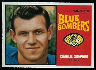Charlie Shepard 1964 Topps CFL football card