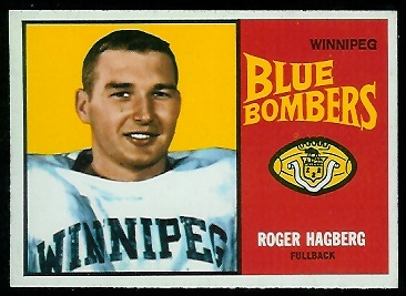 Roger Hagberg 1964 Topps CFL football card