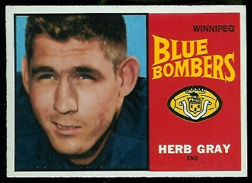 Herb Gray 1964 Topps CFL football card