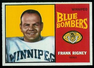 Frank Rigney 1964 Topps CFL football card