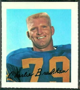 Charlie Bradshaw 1964 Wheaties Stamps football card