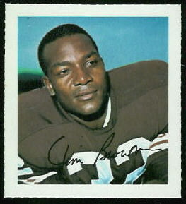Jim Brown 1964 Wheaties Stamps football card