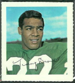 Timmy Brown 1964 Wheaties Stamps football card
