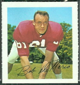 Bob DeMarco 1964 Wheaties Stamps football card