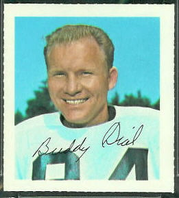 Buddy Dial 1964 Wheaties Stamps football card