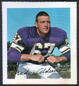 Grady Alderman 1964 Wheaties Stamps football card