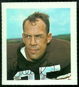 Galen Fiss 1964 Wheaties Stamps football card
