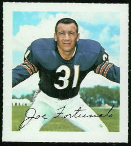 Joe Fortunato 1964 Wheaties Stamps football card
