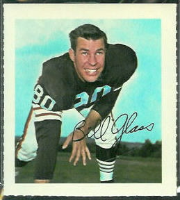 Bill Glass 1964 Wheaties Stamps football card