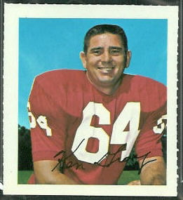 Ken Gray 1964 Wheaties Stamps football card