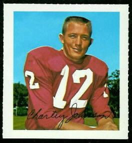 Charley Johnson 1964 Wheaties Stamps football card